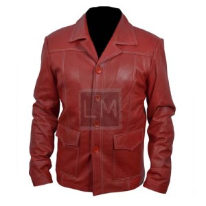 Fight Club Red Leather Jacket
