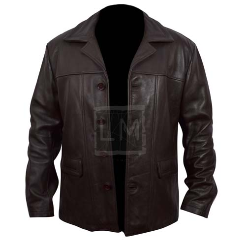 24 Kiefer Sutherland Brown Faux Leather Jacket