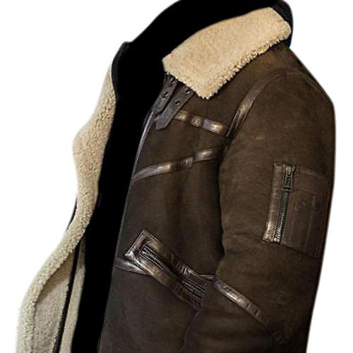 50 Cent Aviator Genuine Real Leather Jacket