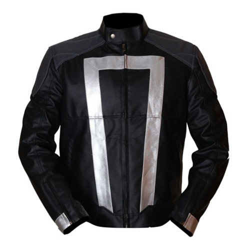 Agents Of Shield Black & Grey Genuine Real Leather Jacket