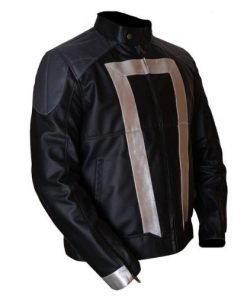 Agents Of Shield Black & Silver Leather Jacket
