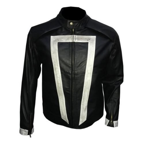 Agents Of Shield Gabriel Luna Ghost Rider Genuine Leather Jacket
