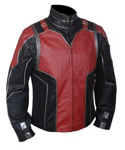 Ant Man Red & Black Faux Leather Jacket