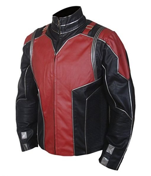 Ant Man Red & Black Genuine Leather Jacket