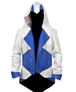 Assassin Creed White & Blue Denim Jacket