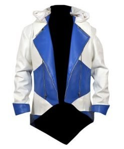Assassins Creed 3 White And Blue Denim Jacket