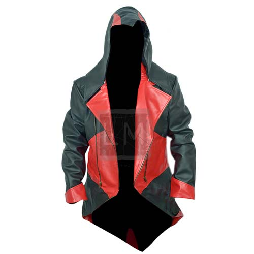 Assassins Creed 3 Black And Red Denim Jacket