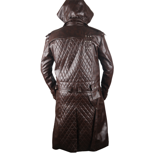 Assassins Creed Syndicate Brown Faux Leather Coat