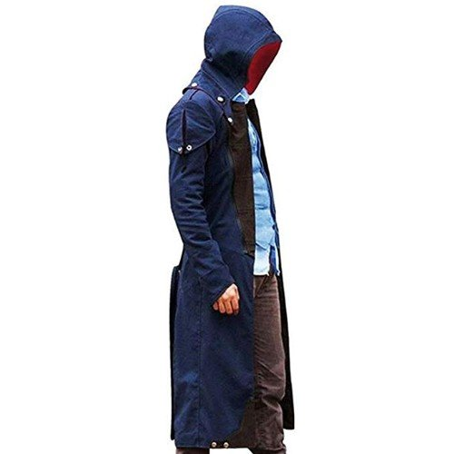 Assassins Creed Unity Arno Victor Dorian Denim Cloak Cosplay Coat Hoodie Jacket Trench Coat