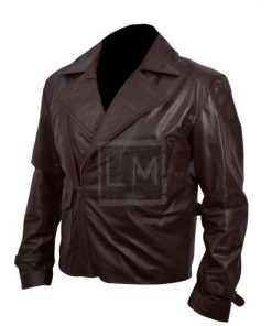 Captain America Brown Biker Leather Jacket First Avengers Chris Evans