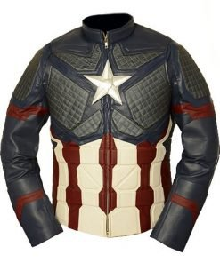 Avengers Endgame Captain America Genuine Leather Jacket