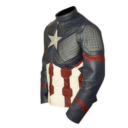 Avengers Endgame Captain America Faux Leather Jacket