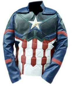 Avengers Endgame Captain America Leather Costume Cosplay