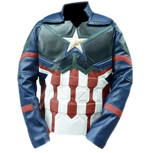 Captain America Avengers Endgame Faux Leather Jacket Costume