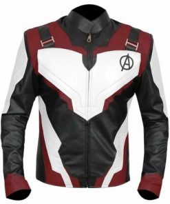Avengers Endgame Quantum Realm Genuine Real Leather Jacket Burgundy