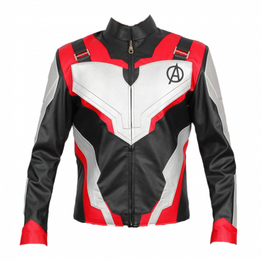 Avengers Endgame Quantum Realm Faux Leather Jacket Red