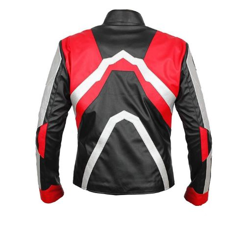 Avengers Endgame Quantum Realm Genuine Real Leather Jacket Red