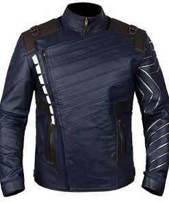Avengers Infinity War Bucky Barnes Faux Leather Jacket