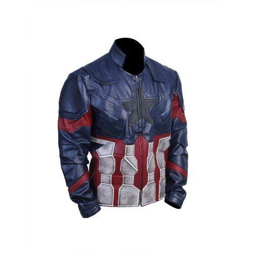 Captain America Infinity War Faux Leather Jacket Waxed