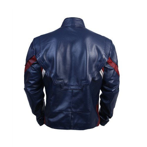 Avengers Infinity War Captain America Waxed Leather Jacket