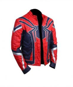 Avengers Infinity War Spider-Man Genuine Leather Jacket