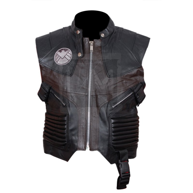 Avengers Hawk Eye Genuine Leather Vest Avengers Assembled 2012 ...