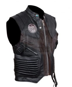 Avengers Hawk Eye Genuine Leather Vest Avengers Assembled 2012
