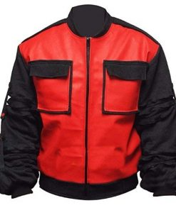 Back To The Future Marty McFly Red Faux Leather Jacket