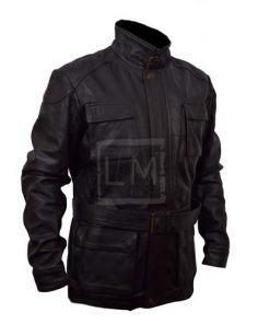 Batman Bane Black Genuine Real Leather Jacket with Box Pockets