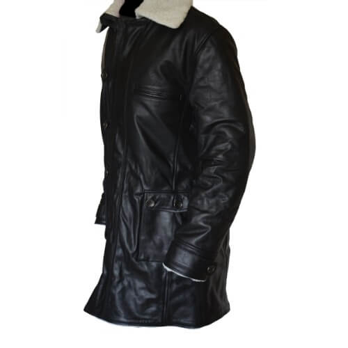 Bane Coat Black Cowhide Leather Jacket 3