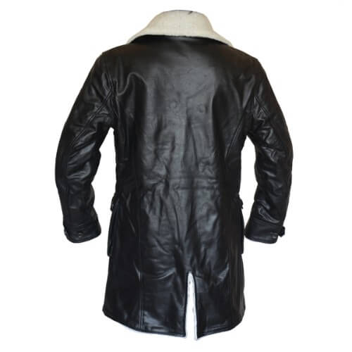 Bane Coat Black Cowhide Leather Jacket