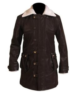 Bane Coat Chocolate Brown Leather Long Coat