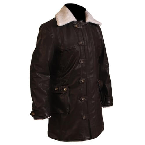 Bane Coat Chocolate Brown Leather Long Coat 2