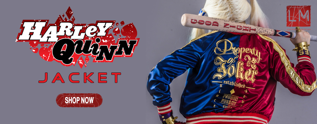 Banner-harley-quinn-Jacket-Leather-Madness