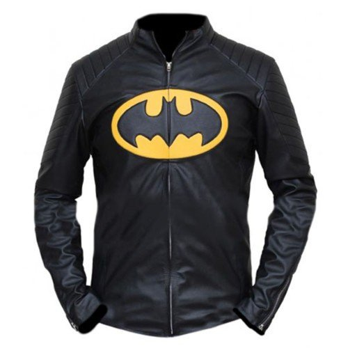 Batman Black Biker Faux Leather Jacket Lego