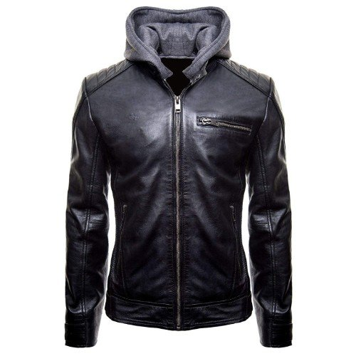 Batman Hoodie Genuine Biker Real Leather Jacket