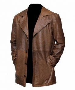 Batman Vs Superman Genuine Brown Leather Coat