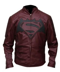 Batman Vs Superman Dawn Of Justice Maroon Leather Jacket