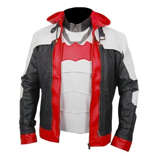 Batman Arkham Knight Genuine Leather Jacket & Leather Vest
