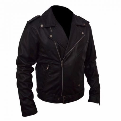 Belted-Rider-Black-Biker-Leather-Jacket