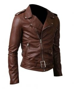 Belted Rider Brown Genuine Cowhide Leather Jacket