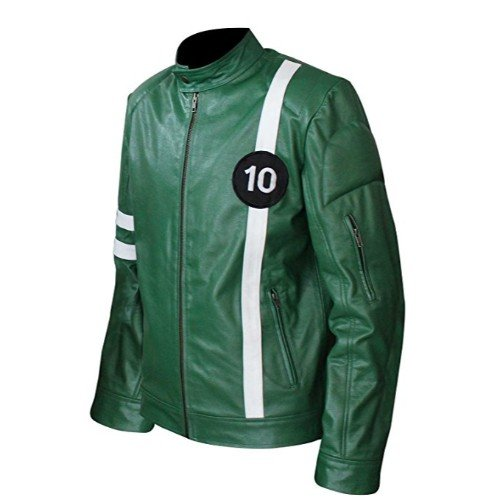 Ben 10 Green Faux Leather Jacket