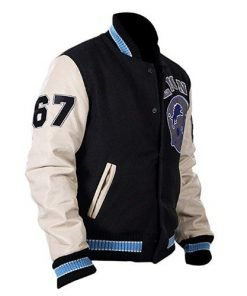 Beverly Hills Cop Axel Foley Detroit Lions Letterman Biker Jacket