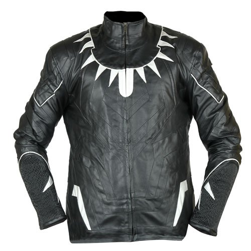 Black Panther Black U0026 Silver Faux Leather Jacket | Leather Madness