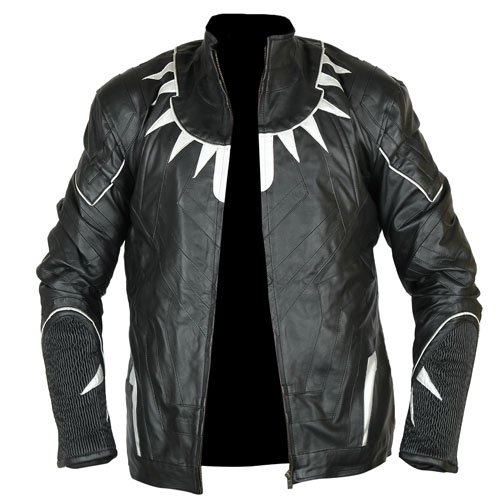 Black Panther Black & Silver Faux Leather Jacket