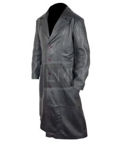 Blade Trinity Genuine Leather Long Coat Wesley Snipes Sheepskin