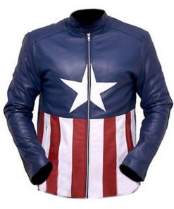 Bon Jovi Captain America Genuine Real Leather Jacket