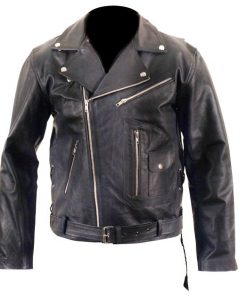 Brando Marlon Brandos The Wild One Black Biker Leather Jacket