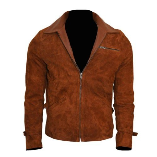 Brown Genuine Suede Leather Jacket