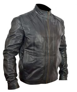Bruce Willis Red 2 Black Genuine Leather Jacket